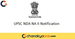 UPSC NDA NA II Notification