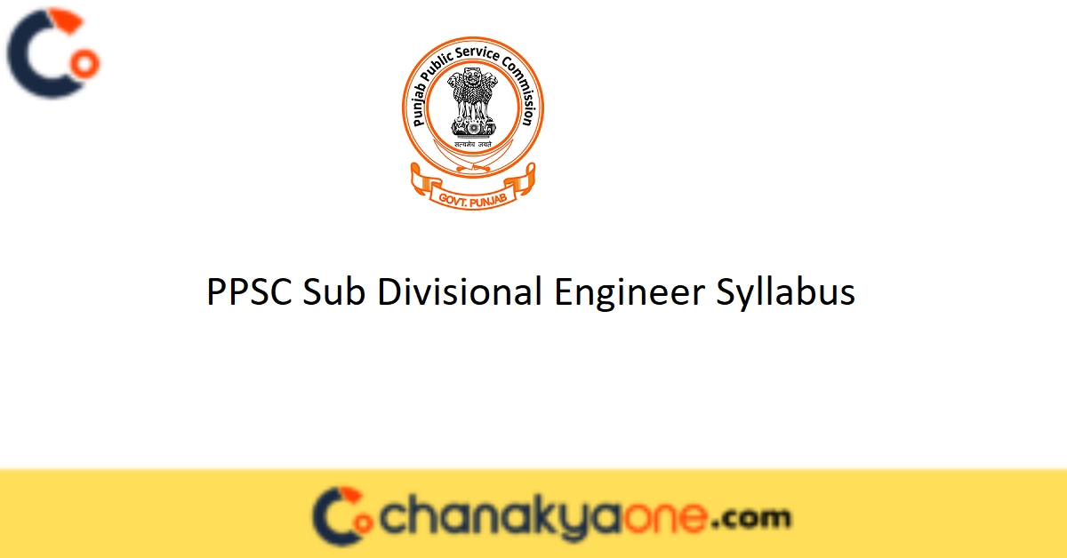 PPSC Sub Divisional Engineer Syllabus