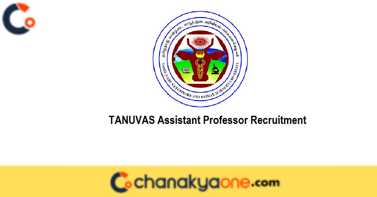 TANUVAS Assistant Professor Recruitment