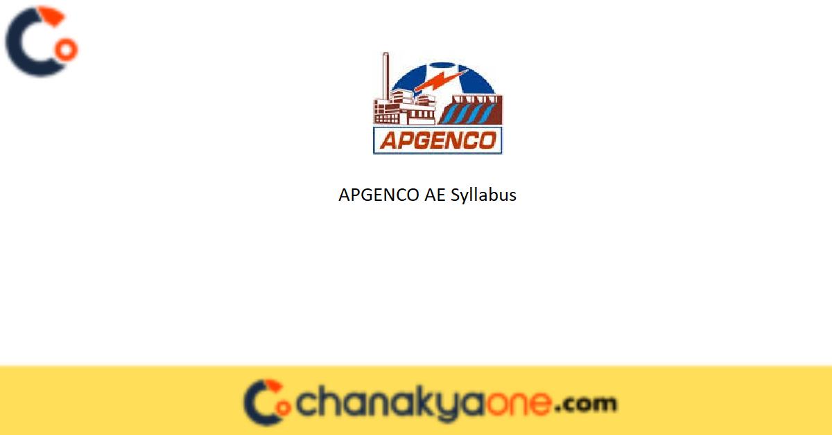 APGENCO AE Syllabus