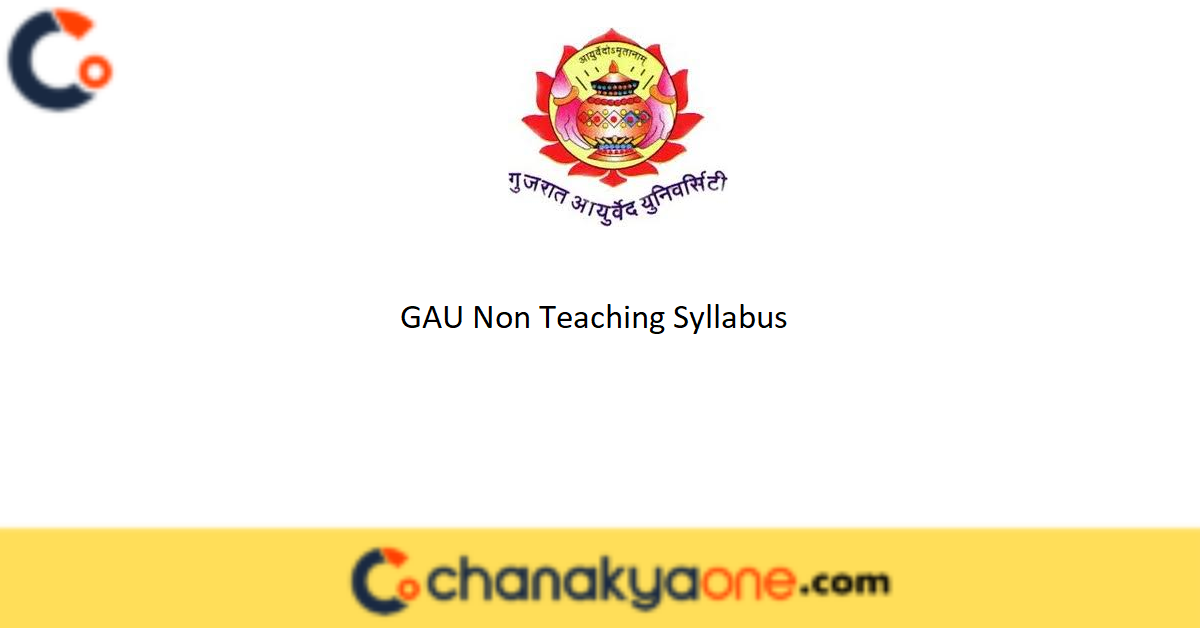GAU Non Teaching Syllabus