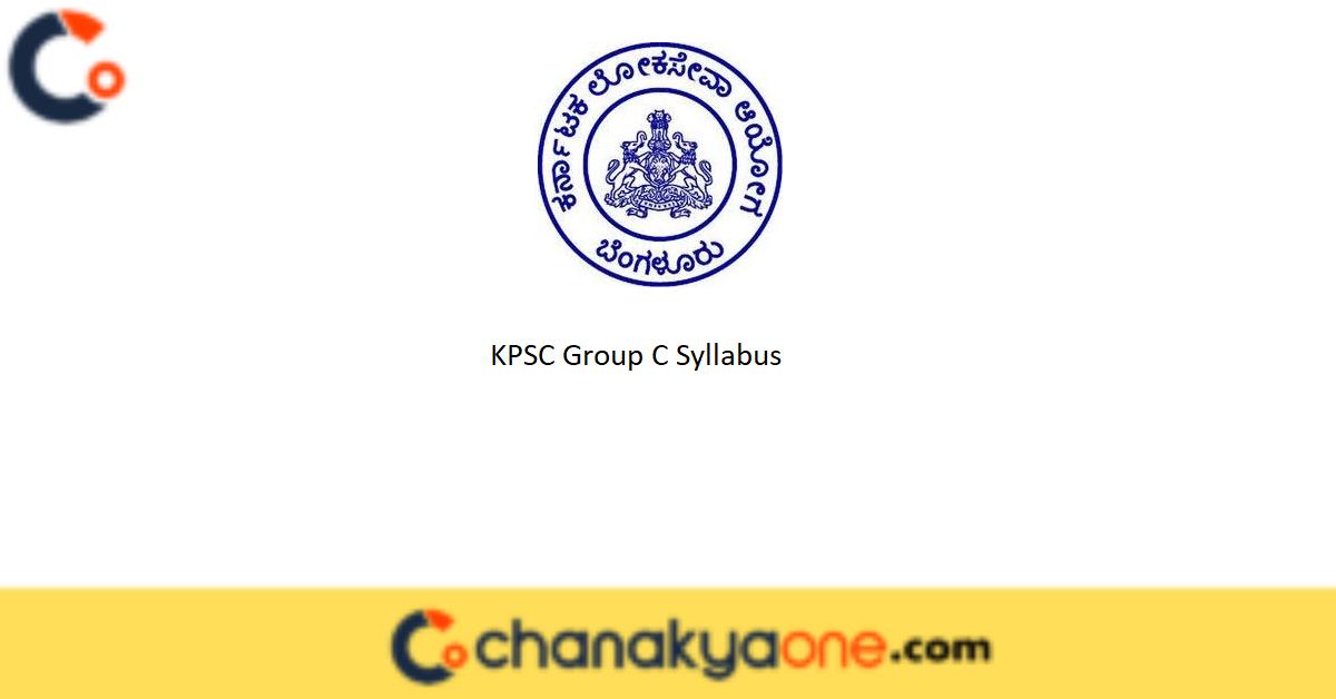 KPSC Group C Syllabus