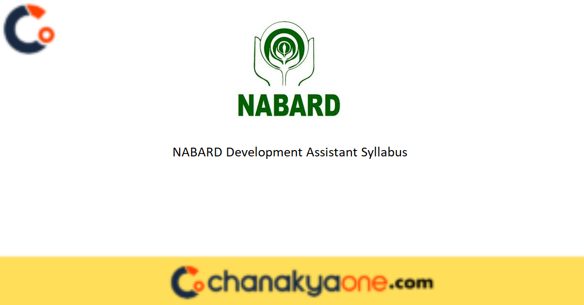 NABARD Development Assistant Syllabus