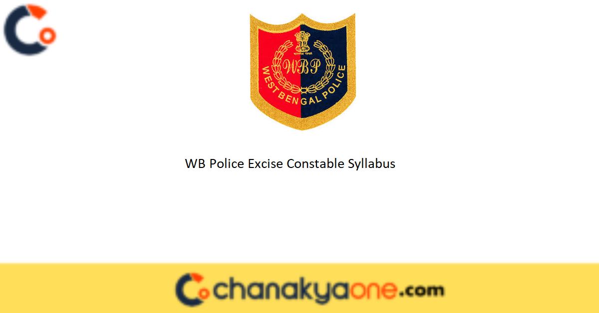 WB Police Excise Constable Syllabus