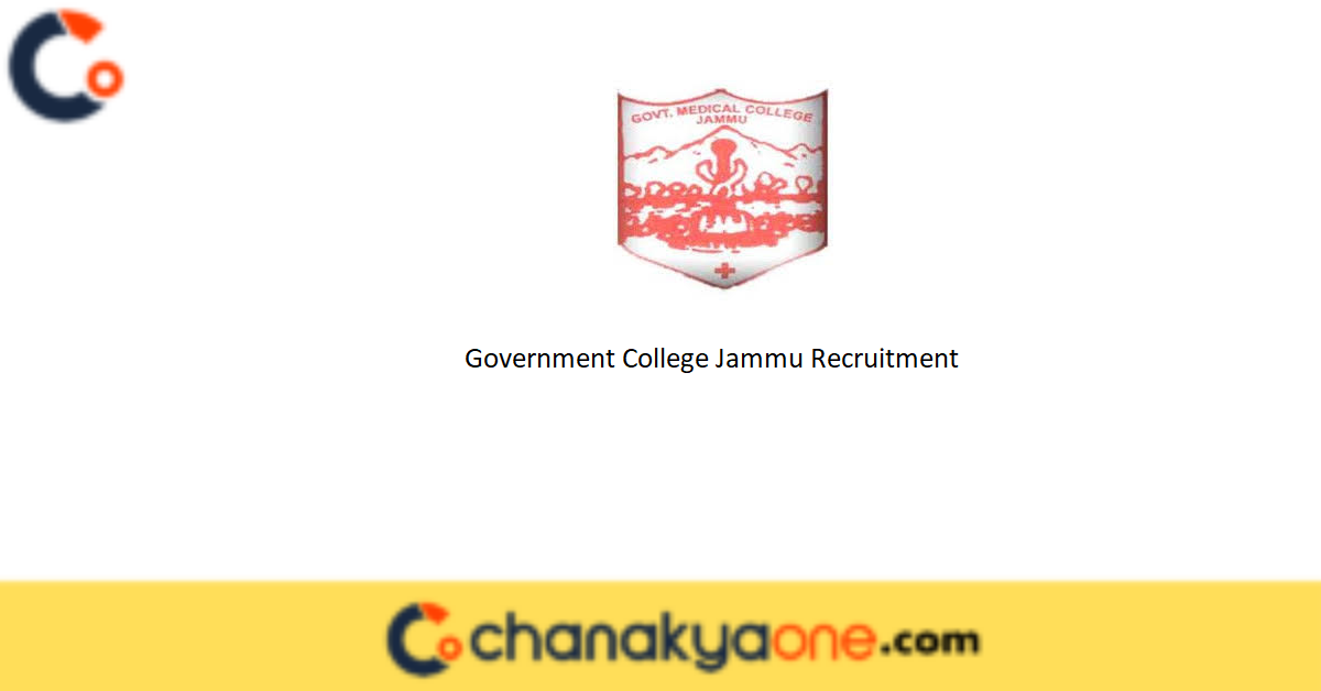 Government College Jammu Recruitment