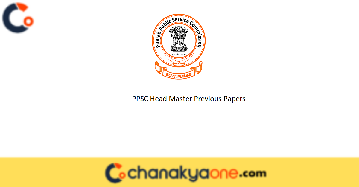 PPSC Head Master Previous Papers